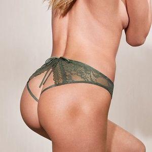 VS Very Sexy Lace Cutout Peek a Boo Cheekini NWT